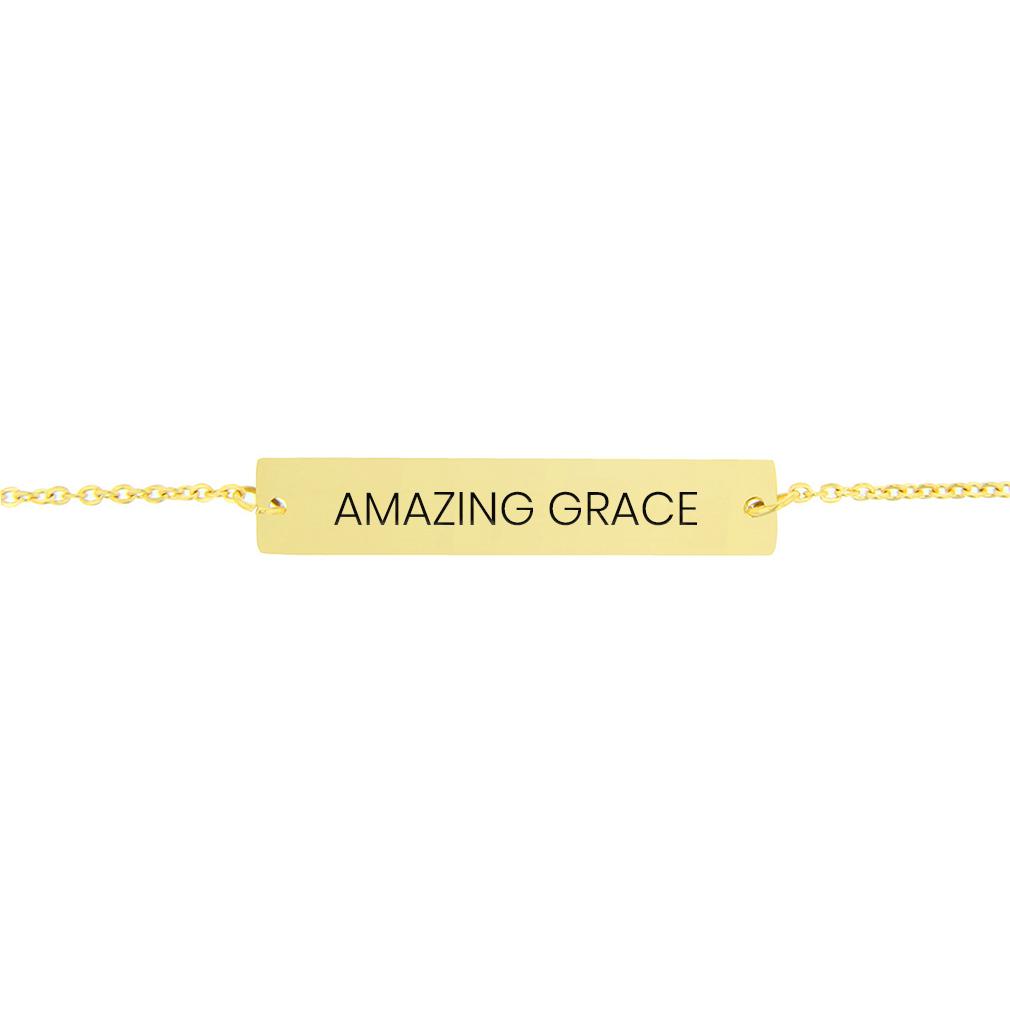 Amazing Grace Horizontal Bar Bracelet - FP-HBB-AMZGR