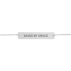 Saved By Grace Horizontal Bar Bracelet saved by grace bracelet, christian bracelets, saved by grace bar bracelet,fashion jewelry,jewelry cheap,jewelry trendy,jewelry inexpensive,women jewelry,christian woman,christian women,christian women jewelry,christian woman jewelry,christianjewelry,christian jewelry, jewelry for christians,christian jewelry free,jewelry free shipping,necklace free shipping,christian necklace,necklace for christian,necklace for christians