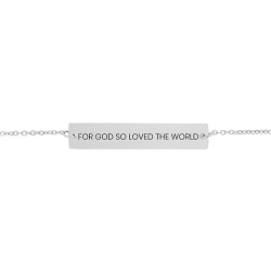 For God So Loved the World Horizontal Bar Bracelet for god so loved the world bracelet, john 3:16 bracelet