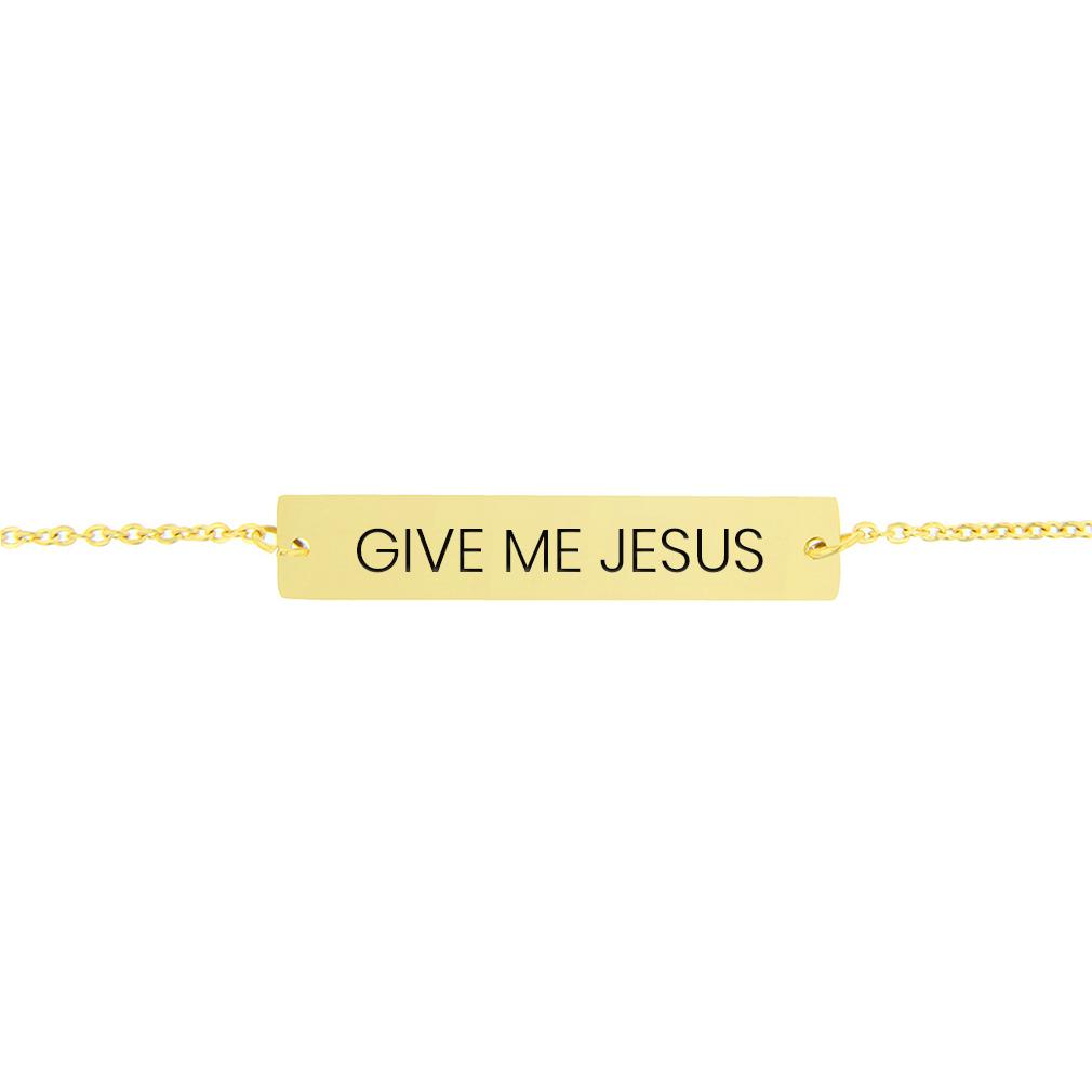 Give Me Jesus Horizontal Bar Bracelet - LDP-HBB-GMJ