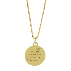 Swallowed Up in Victory Pendant Necklace christian bereavement necklace