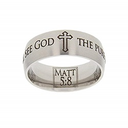 Matthew 5:8 Scripture Ring scripture ring, scripture verse, verse ring, matthew 5:8, matthew 5: 8, matt 5:8, matt 5: 8, the pure in heart are blessed & will see god, the pure in heart are blessed and will see god, the pure in heart, pure in heart, the pure in heart are blessed