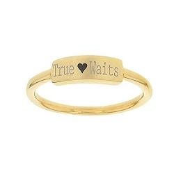 True Heart Waits Bar Ring bar ring, lds text bar ring