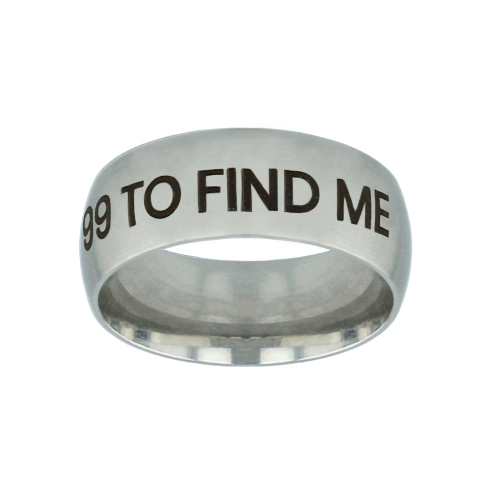He Left the 99 to Find Me Silver Domed Ring - FP-RNGB-SLV-99FINDME