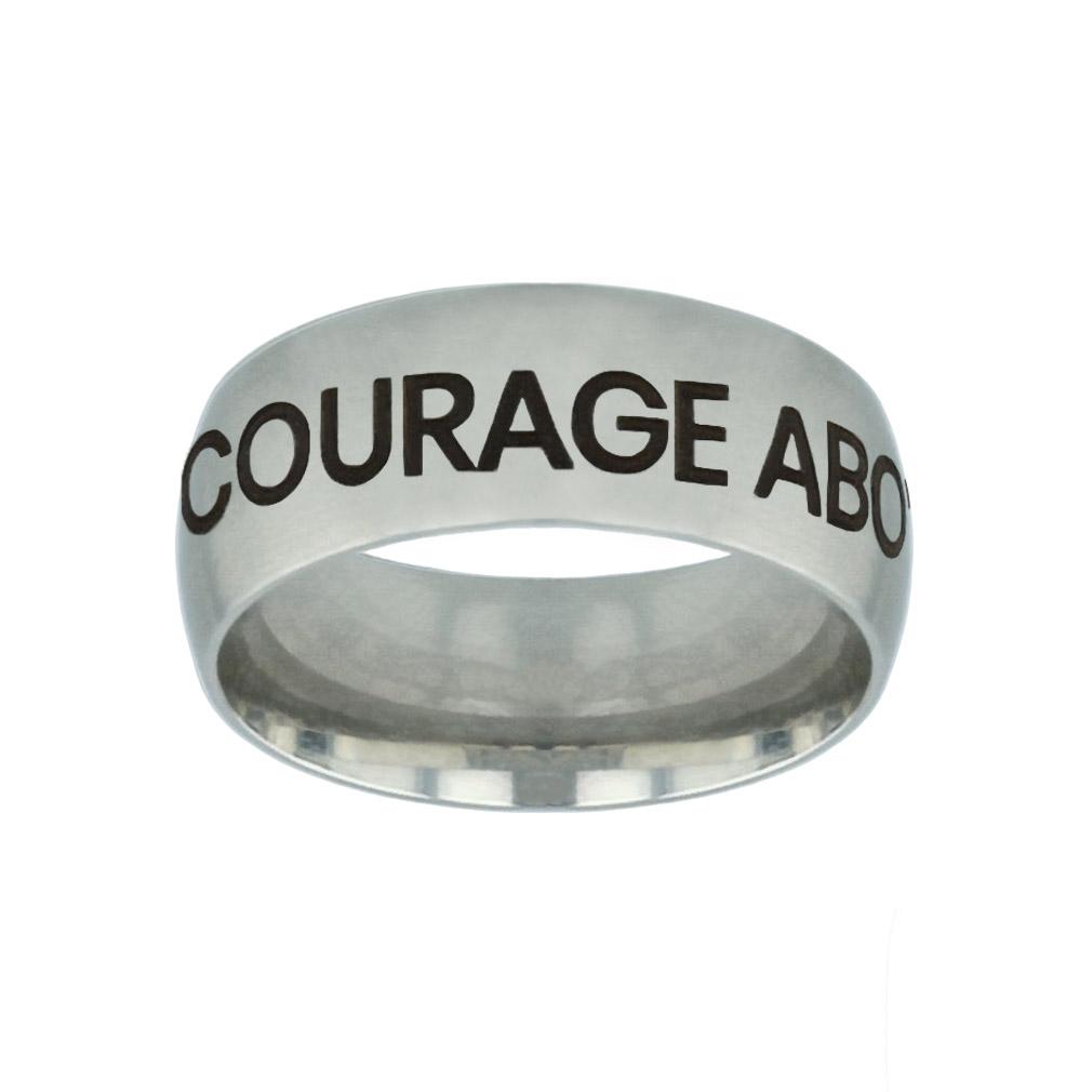 Courage Above Fear Hidden Verse Silver Domed Ring courage above fear hidden verse silver domed ring,courage above fear,christian jewelry