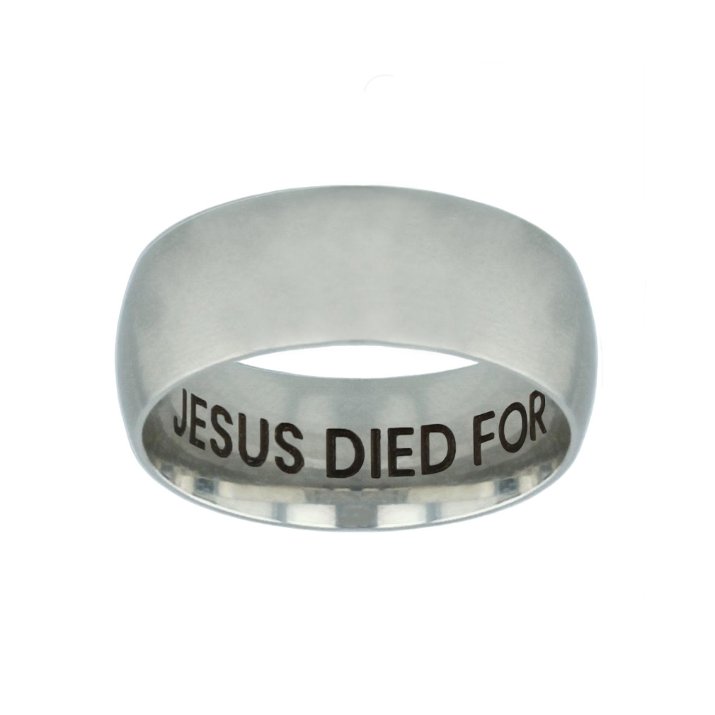 Jesus Died for Me, I Live for Him Hidden Verse Silver Domed Ring jesus died for me i live for him,silver domed ring,christian jewelry