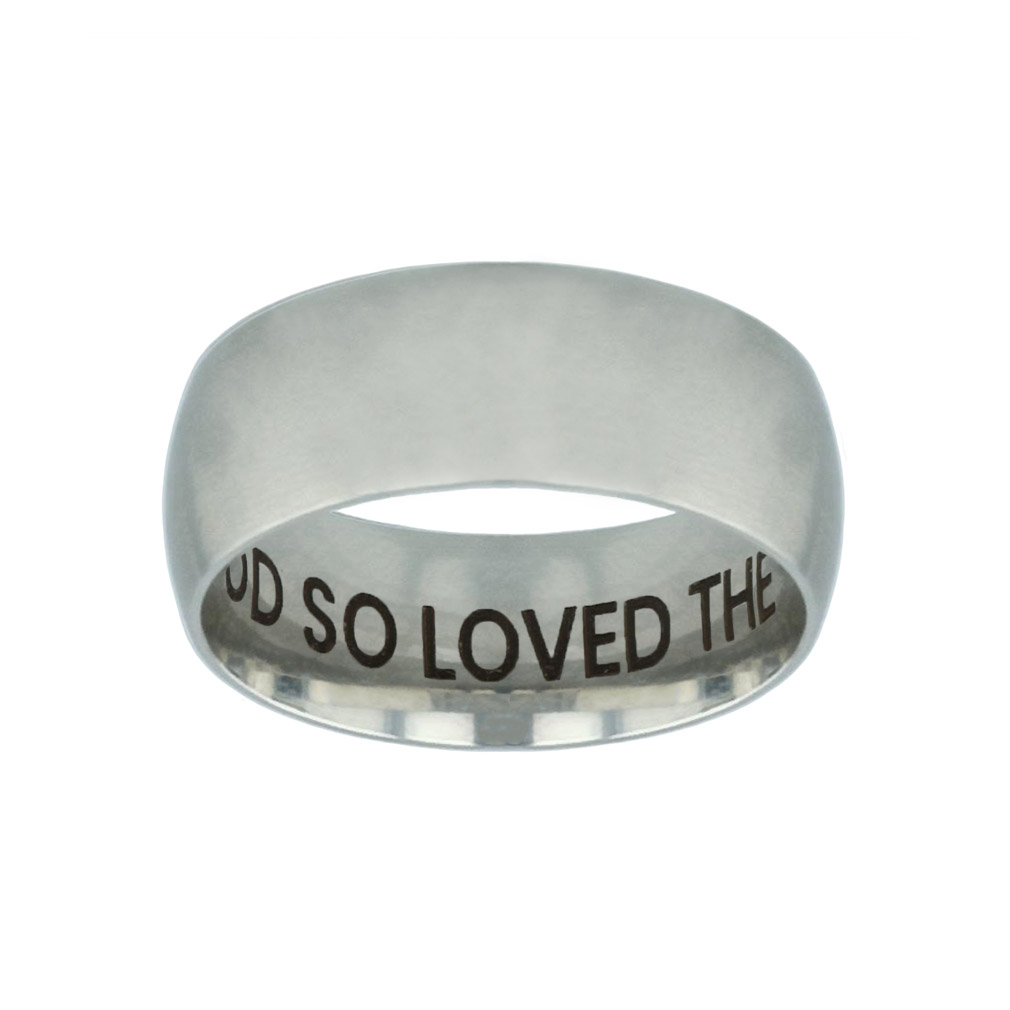 For God So Loved the World Hidden Verse Silver Domed Ring for god so loved the world hidden verse silver domed ring,christian jewelry