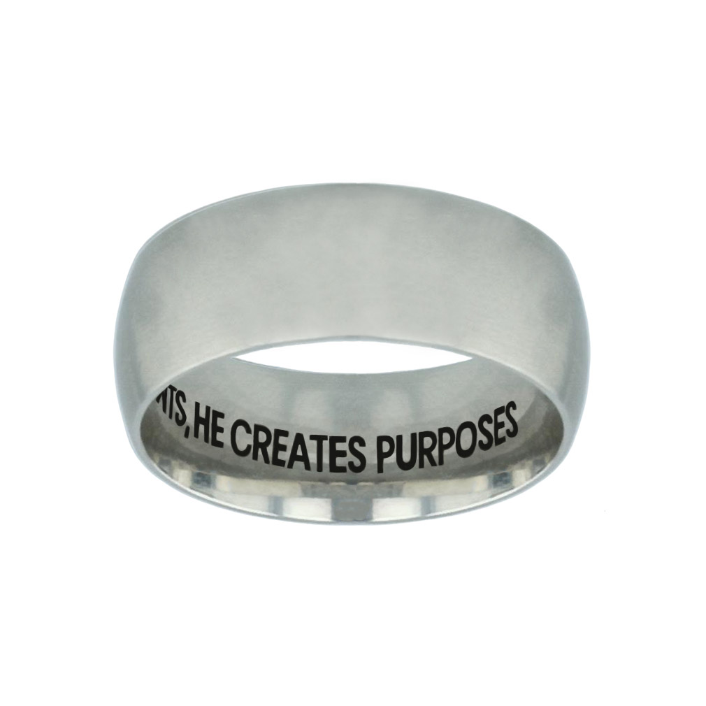 God Doesnt Design Accidents, He Creates Purposes Hidden Verse Silver Domed Ring god doesnt design accidents he creates purposes,christian jewelry