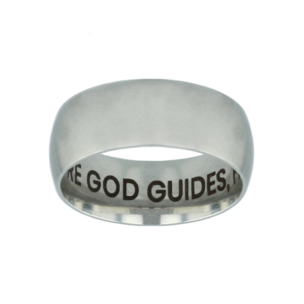 Where God Guides, He Provides Hidden Verse Silver Domed Ring where god guides he provides hidden verse silver domed ring,christian jewelry