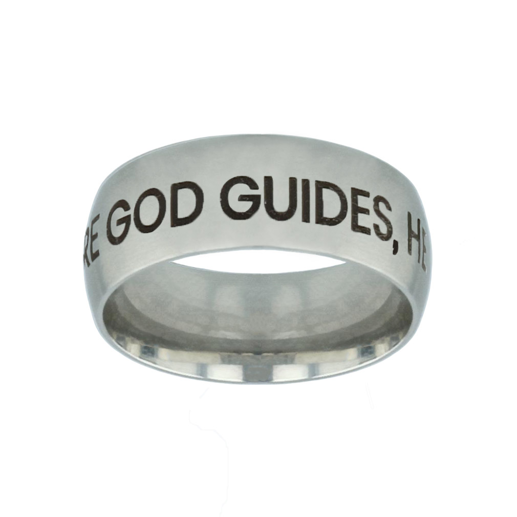 Where God Guides, He Provides Silver Domed Ring where god guides he provides silver domed ring,christian jewelry