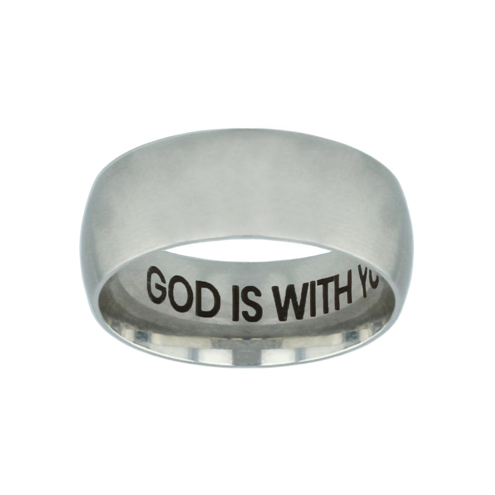 God is With You Hidden Verse Silver Domed Ring god is with you hidden verse silver domed ring,god is with you,christian jewelry