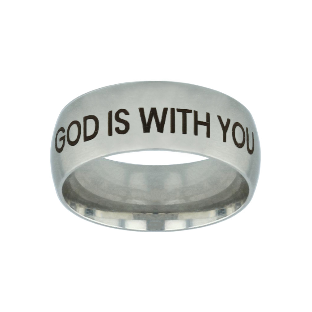 God is With You Silver Domed Ring god is with you silver domed ring,god is with you,christian jewelry