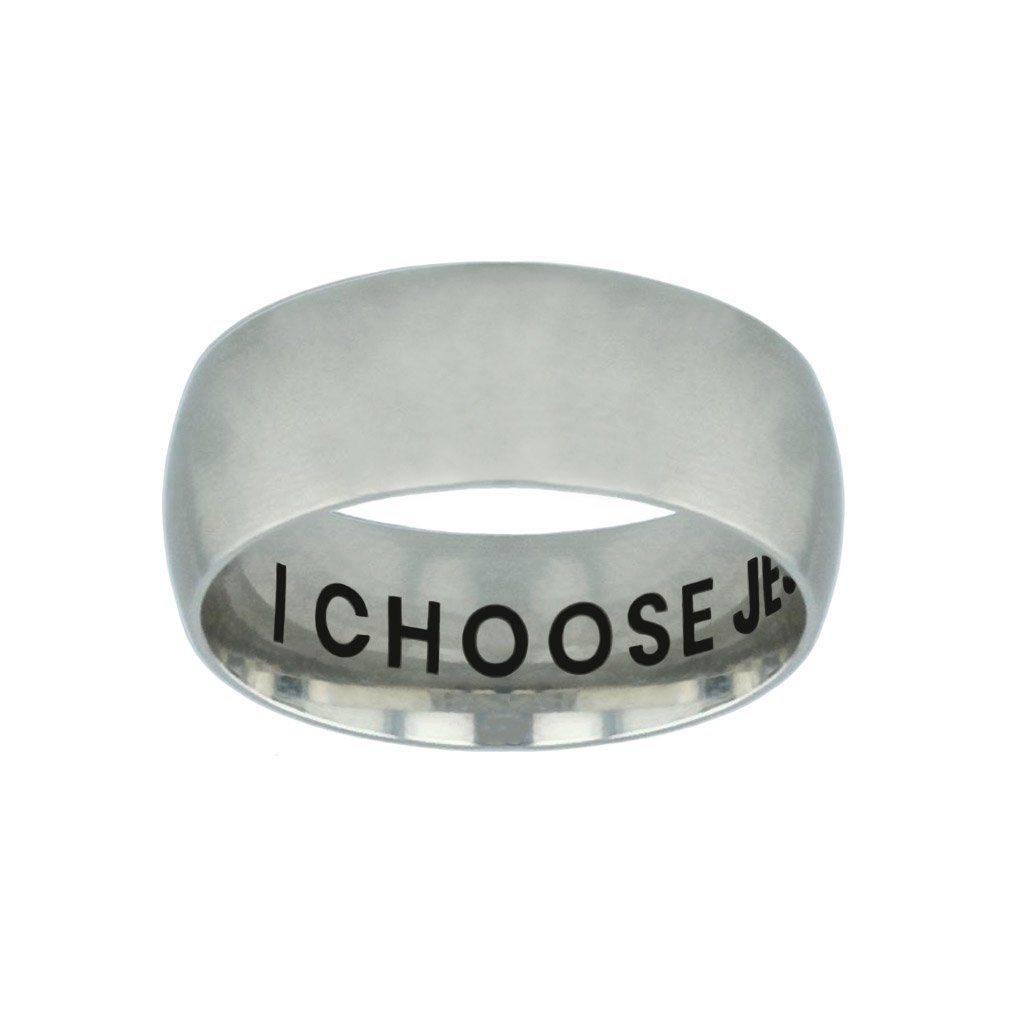 I Choose Jesus Hidden Verse Silver Domed Ring i choose jesus hidden verse silver domed ring,christian jewelry