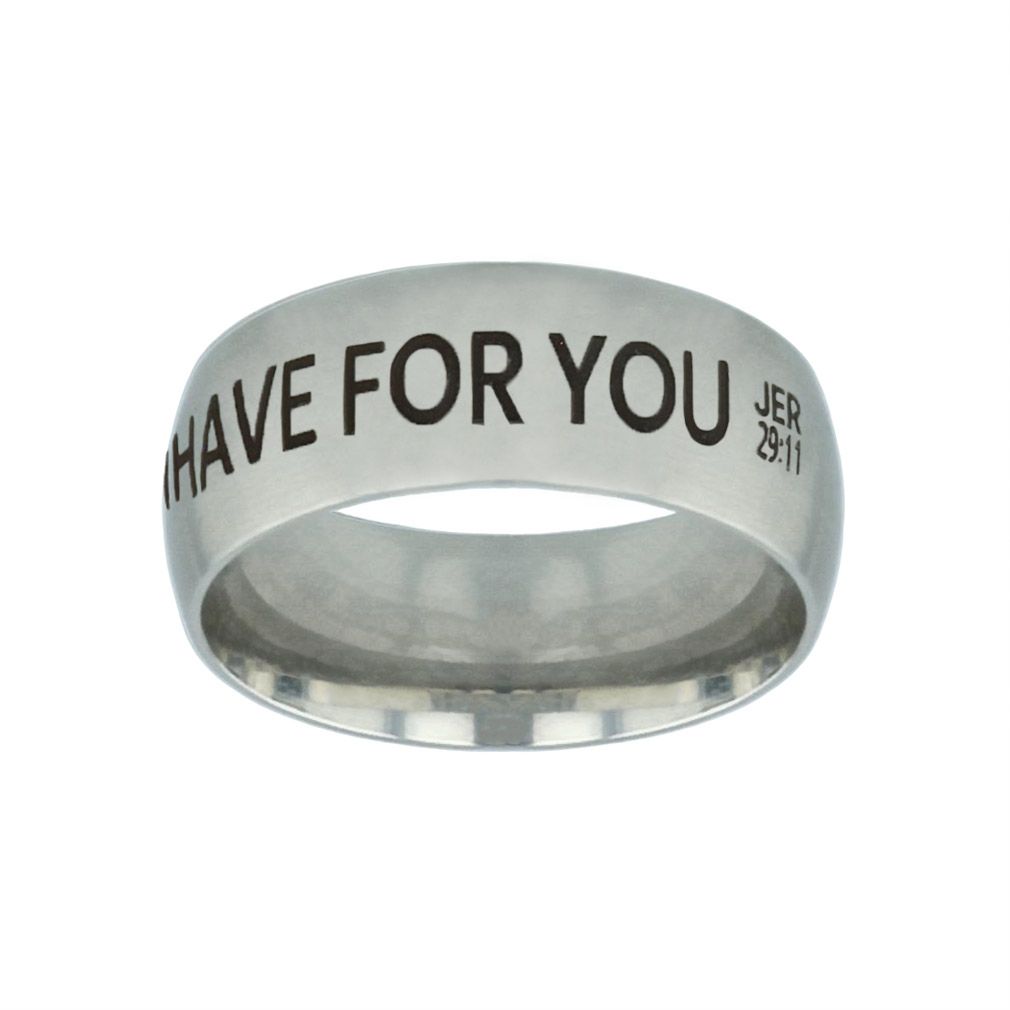 I Know the Plans I Have For You Silver Domed Ring - LDP-RNGB-SLV-IKPLN