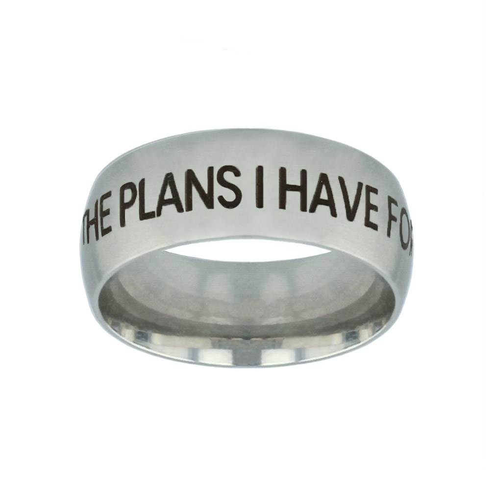 I Know the Plans I Have For You Silver Domed Ring i know the plans i have for you silver domed ring,christian jewelry