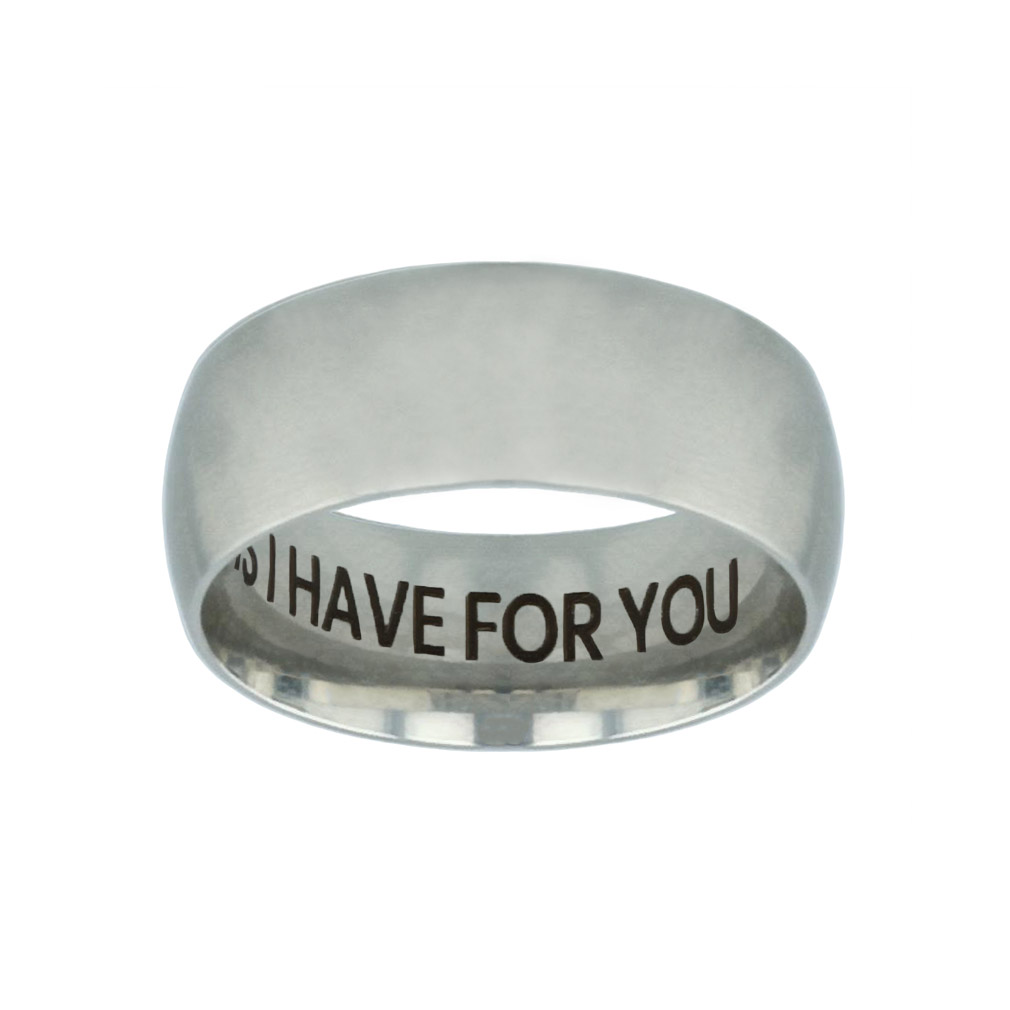 I Know the Plans I Have For You Hidden Verse Silver Domed Ring i know the plans i have for you,christian jewelry
