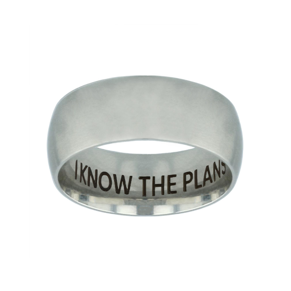 I Know the Plans I Have For You Hidden Verse Silver Domed Ring - LDP-RNGB-SLV-IKPLN-HV