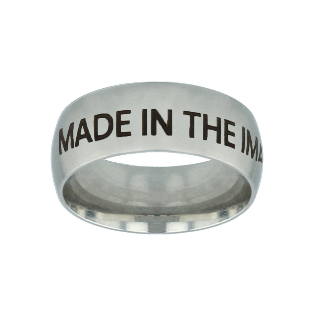 Made in the Image of God Silver Domed Ring made in the image of god silver domed ring,christian jewelry