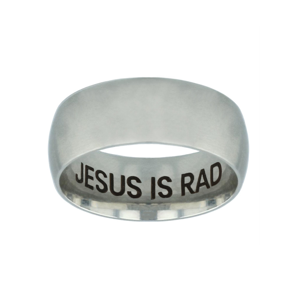 Jesus is Rad Hidden Verse Silver Domed Ring jesus is rad hidden verse silver domed ring,jesus is rad,christian jewelry