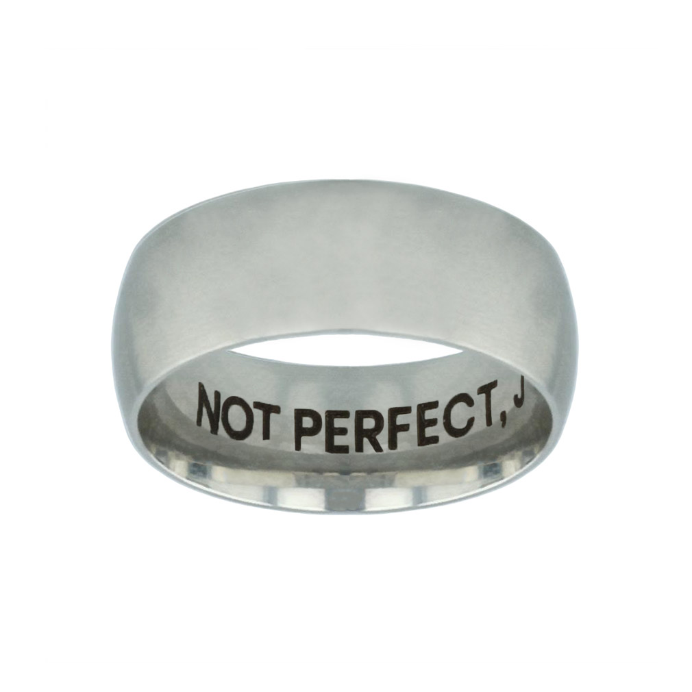Not Perfect, Just Forgiven Hidden Verse Silver Domed Ring not perfect just forgiven hidden verse silver domed ring,christian jewelry
