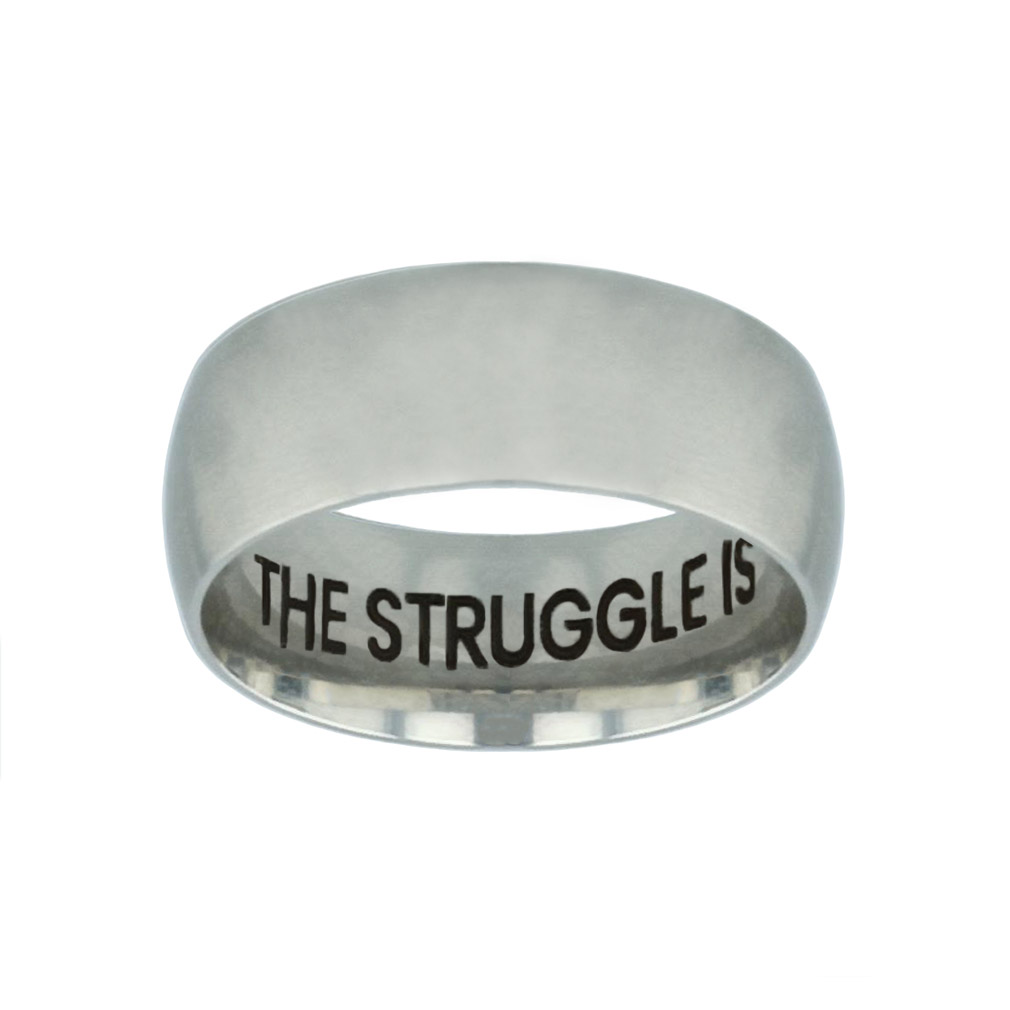 The Struggle is Real but so is God Hidden Verse Silver Domed Ring the struggle is real but so is god hidden verse silver domed ring,christian jewelry