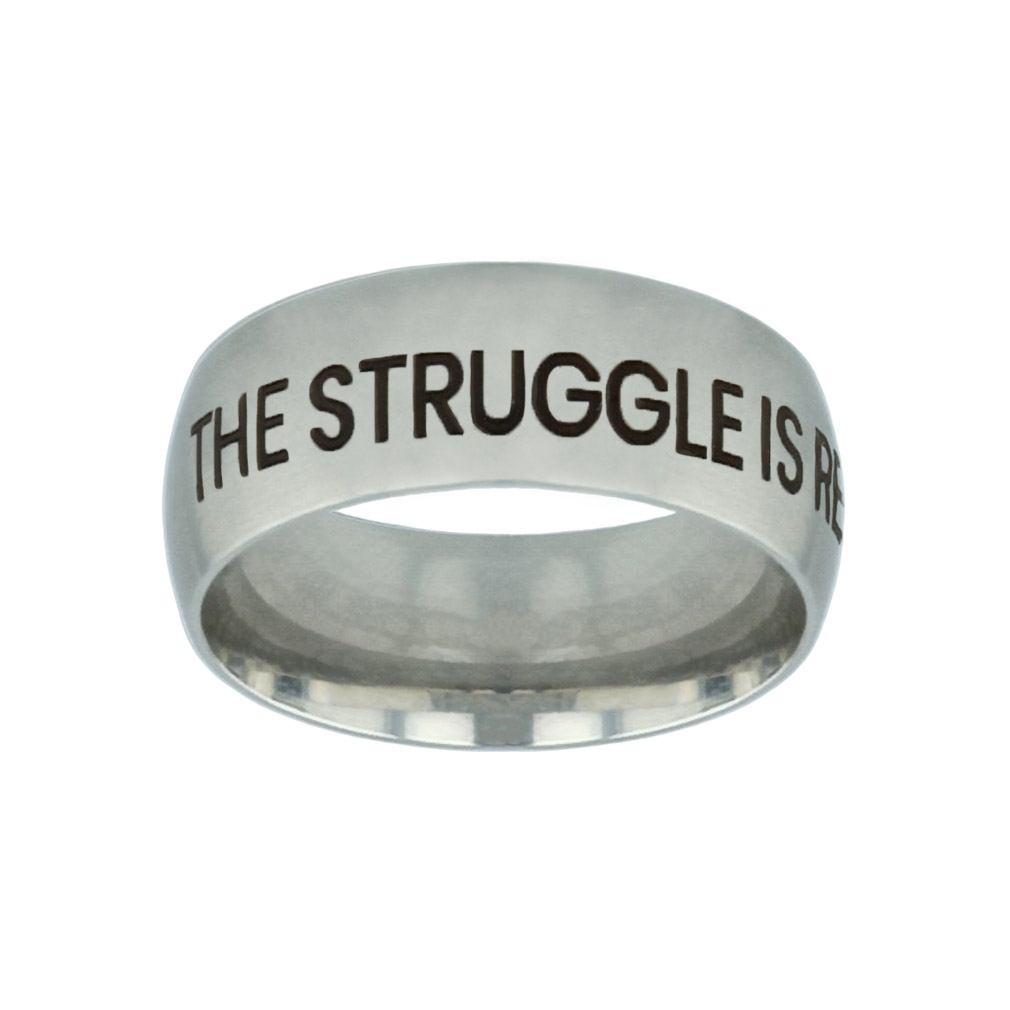 The Struggle is Real but so is God Silver Domed Ring the struggle is real but so is god silver domed ring,the struggle is real,christian jewelry