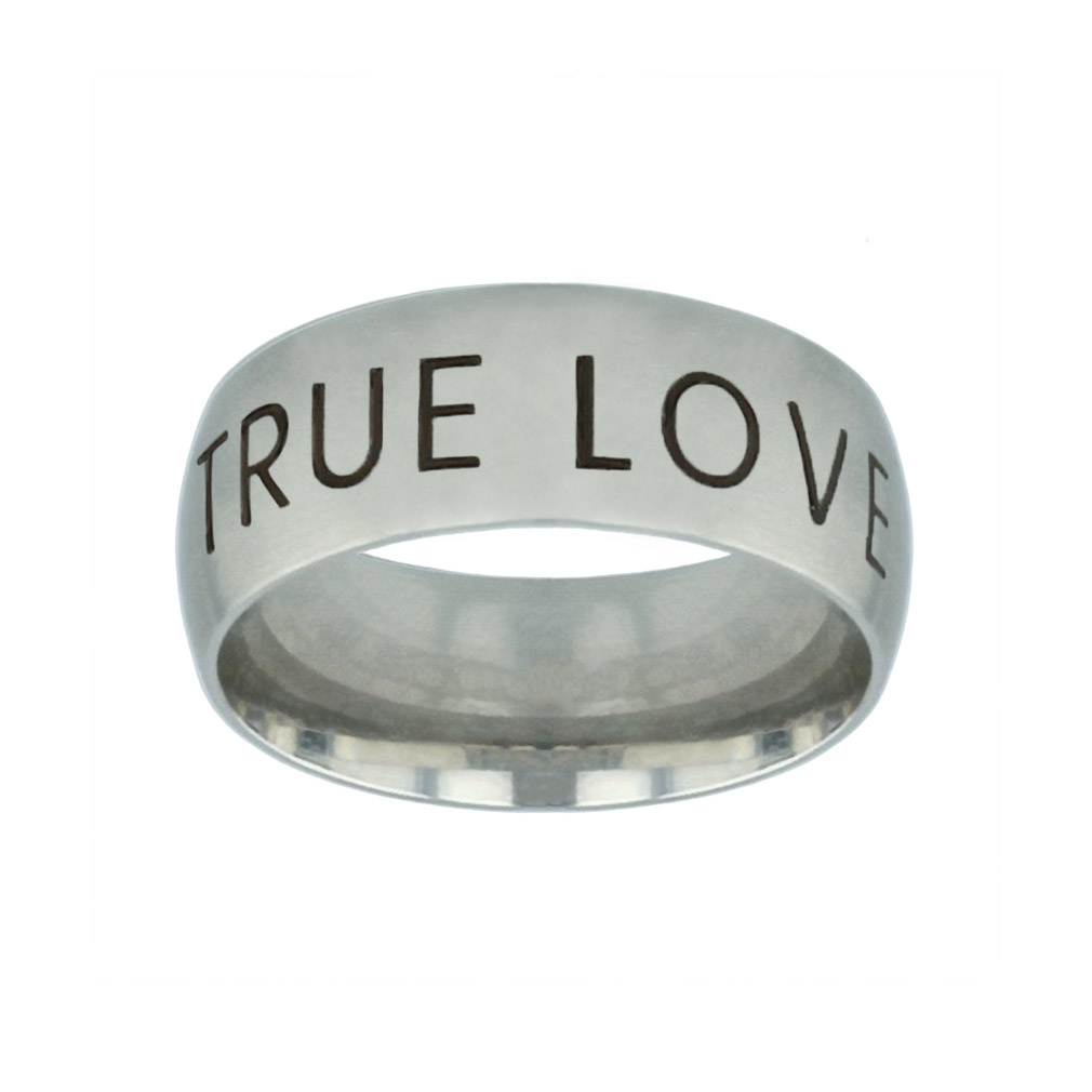 True Love Waits Modern Silver Domed Ring true love waits modern silver domed ring,christian jewelry