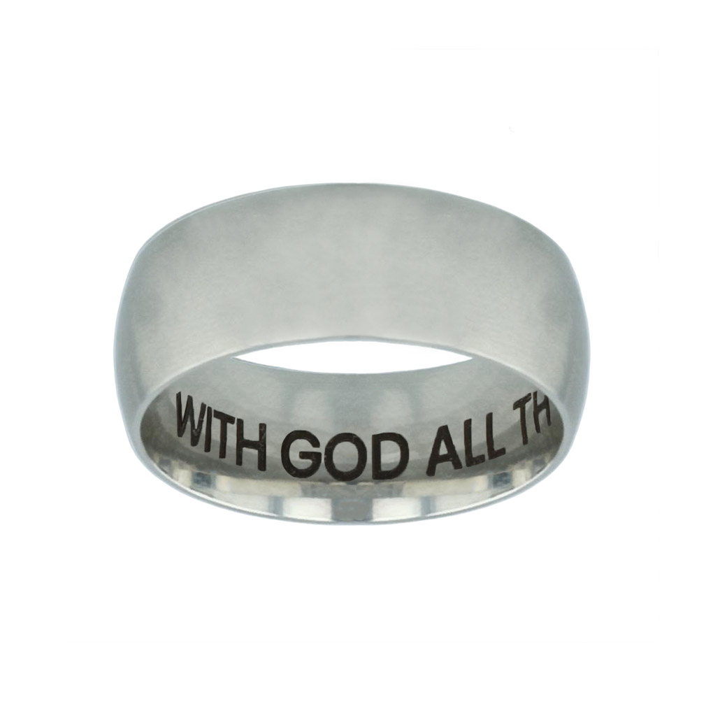 With God All Things Are Possible Hidden Verse Silver Domed Ring with god all things are possible hidden verse silver domed ring,christian jewelry
