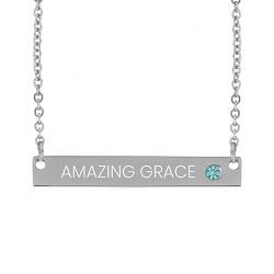 Amazing Grace Birthstone Bar Necklace - LDP-BSN-AMZGR
