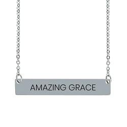 Amazing Grace Horizontal Bar Necklace amazing grace jewelry, amazing grace necklace, amazing grace necklaces, amazing grace horizontal bar necklace,fashion jewelry,jewelry cheap,jewelry trendy,jewelry inexpensive,women jewelry,christian woman,christian women,christian women jewelry,christian woman jewelry,christianjewelry,christian jewelry, jewelry for christians,christian jewelry free,jewelry free shipping,necklace free shipping,christian necklace,necklace for christian,necklace for christians