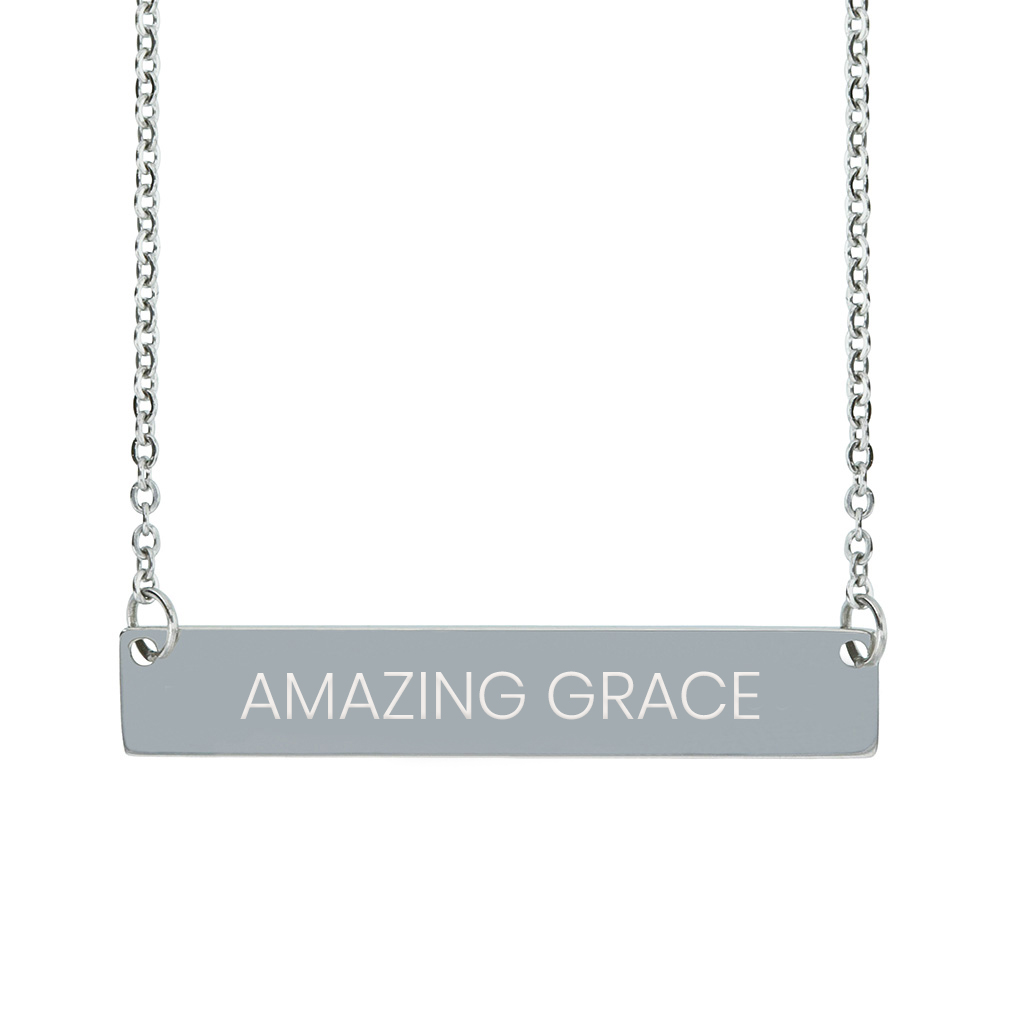 Amazing Grace Horizontal Bar Necklace - LDP-HBN-AMZGR