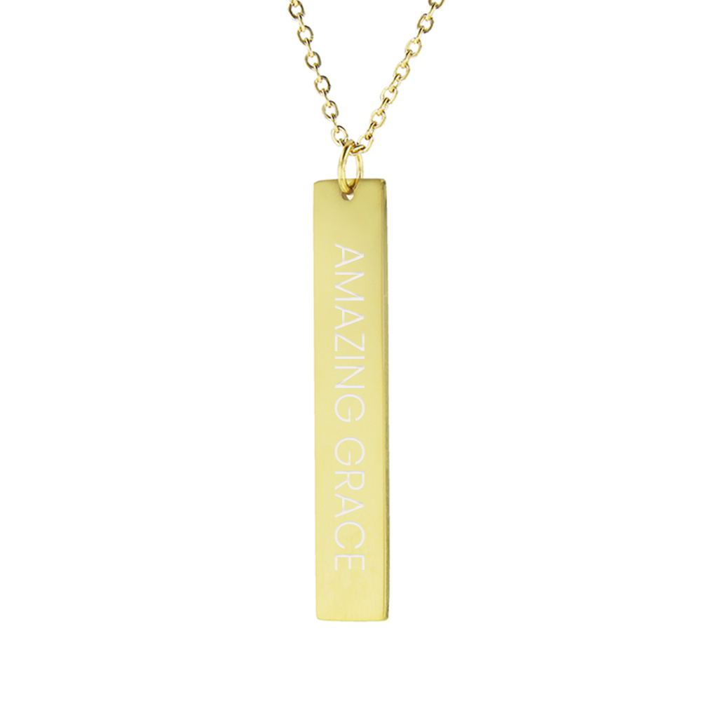 Amazing Grace Vertical Bar Necklace - LDP-VBN-AMZGR