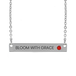 Bloom with Grace Birthstone Bar Necklace bloom with grace birthstone necklace,bloom with grace,bloom with grace necklace,jesus necklace,christian necklace,jesus christian necklace,christian jewelry,jesus jewelry