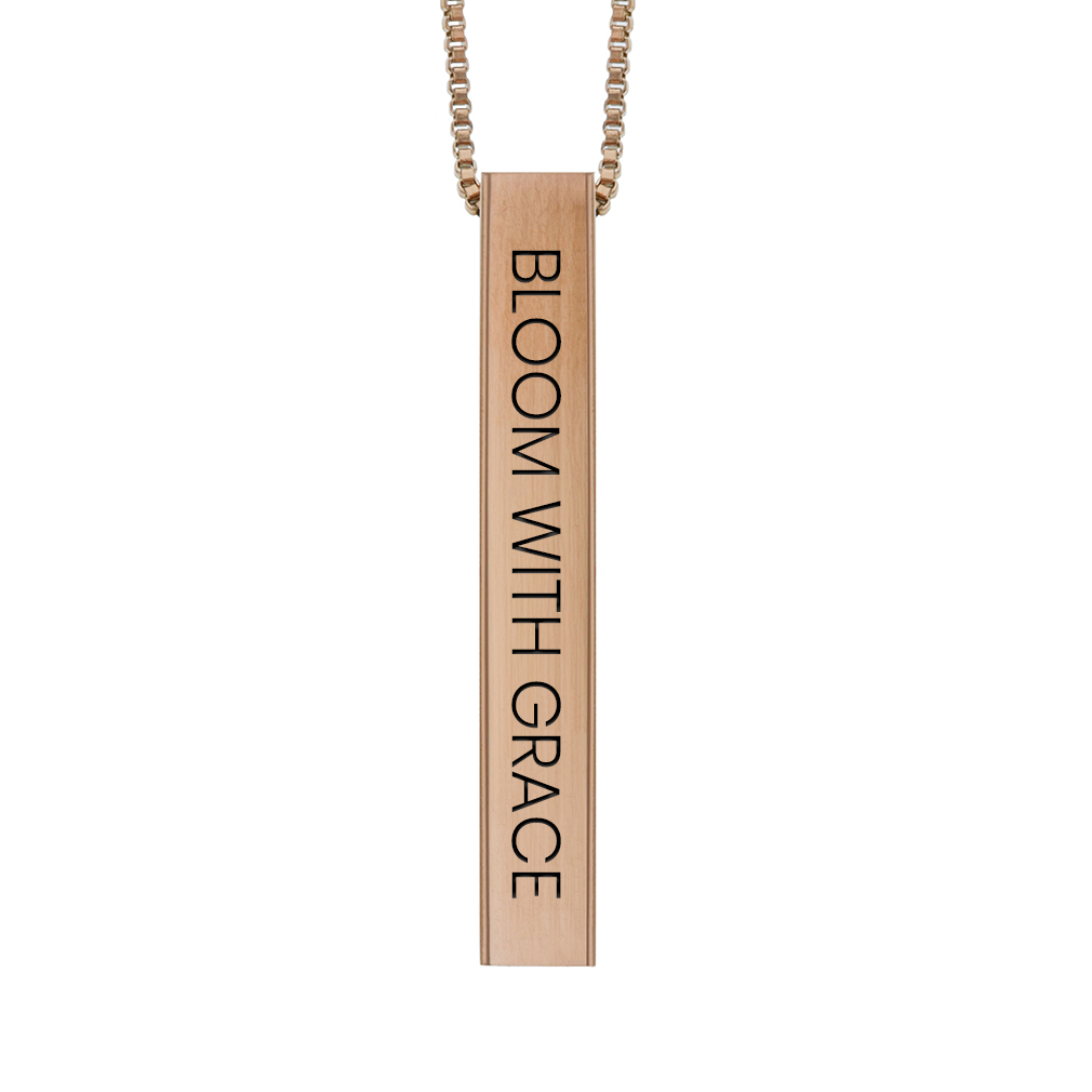 Bloom with Grace Four-Sided Bar Necklace - LDP-FSBN-BGW