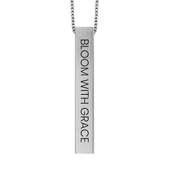 Bloom with Grace Four-Sided Bar Necklace bloom with grace four sided bar necklace,bloom with grace necklace,bloom with grace,christian women,christian women jewelry,christian woman jewelry,christianjewelry,christian jewelry, jewelry for christians,christian jewelry free,jewelry free shipping,necklace free shipping,christian necklace,necklace for christian,necklace for christians