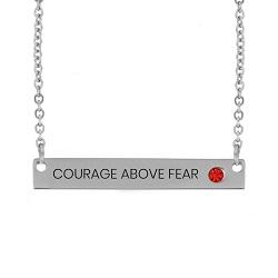 Courage Above Fear Birthstone Bar Necklace courage above fear birthstone bar necklace,courage above fear necklace,scripture jewelry,scripture necklaces, christian jewelry, courage jewelry,christian bracelets,courage bracelet,jewelry for christians,jewelry for christian women,christian women,christian women jewelry