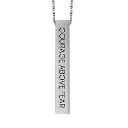 Courage Above Fear Four-Sided Bar Necklace courage above fear necklace, four-sided necklace, faith necklace, christian necklace,fashion jewelry,jewelry cheap,jewelry trendy,jewelry inexpensive,women jewelry,christian woman,christian women,christian women jewelry,christian woman jewelry,christianjewelry,christian jewelry, jewelry for christians,christian jewelry free,jewelry free shipping,necklace free shipping,christian necklace,necklace for christian,necklace for christians