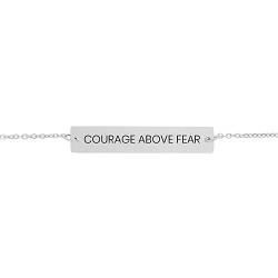 Courage Above Fear Horizontal Bar Bracelet courage above fear horizontal bar bracelet, christian jewelry, courage jewelry,christian bracelets,courage bracelet,jewelry for christians,jewelry for christian women,christian women,christian women jewelry