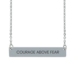Courage Above Fear Horizontal Bar Necklace courage above fear necklace,courage above fear horizontal bar necklace,christian jewelry,courage above fear necklace,christian necklaces,necklaces for christians,jewelry for christian women,necklaces for christian women,hymn jewelry,hymn necklace,jesus jewelry,jesus necklace,religious necklace,religious jewelry