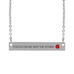 Focus on Me, Not the Storm Birthstone Bar Necklace focus on me not the storm birthstone necklace,focus on me not the storm,focus on me not the storm necklace,jesus necklace,christian necklace,jesus christian necklace,christian jewelry,jesus jewelry