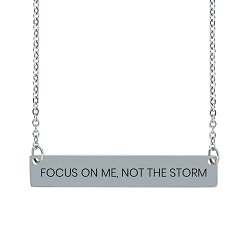 Focus on Me, Not the Storm Horizontal Bar Necklace focus on me not the storm horizontal bar necklace,focus on me not the storm,focus on me not the storm necklace,jesus necklace,christian necklace,jesus christian necklace,christian jewelry,jesus jewelry