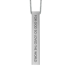 For God So Loved the World Four-Sided Bar Necklace for god so loved the world necklace, john 3:16 necklace, john 3:16 jewelry