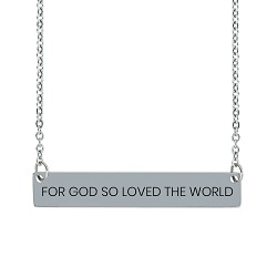 For God So Loved the World Horizontal Bar Necklace For God So Loved the World Horizontal Bar Necklace, john 3:16 necklace, gods love necklace,