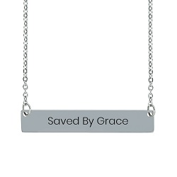 Saved By Grace Horizontal Bar Necklace saved by grace necklace, saved by grace bar necklace