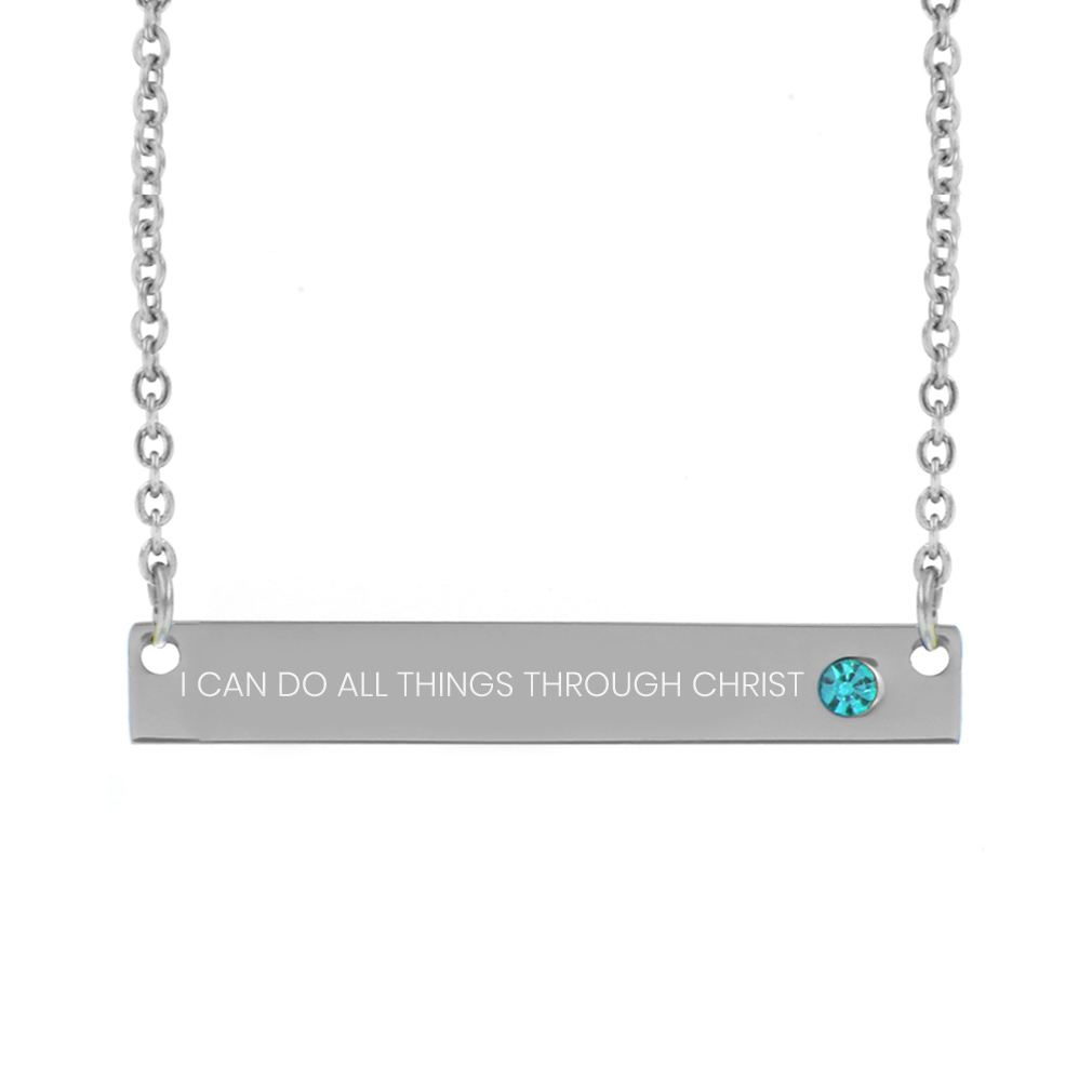 I Can Do All Things Through Christ Birthstone Necklace - FP-BSN-ICANDO