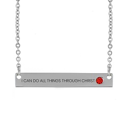 I Can Do All Things Through Christ Birthstone Necklace i can do all things through christ necklace, philippians 4:13 necklace