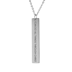 I Can Do All Things Through Christ Vertical Bar Necklace i can do all things through christ vertical bar necklace, i can do all things vertical bar necklace, philippians 4:13 necklace