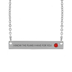 I Know the Plans I Have For You Birthstone Bar Necklace i know the plans i have for you birthstone necklace, jeremiah 29:11 necklace