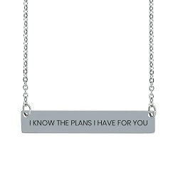 I Know the Plans I Have For You Horizontal Bar Necklace i know the plans i have for you necklace, jeremiah 29:11 necklace