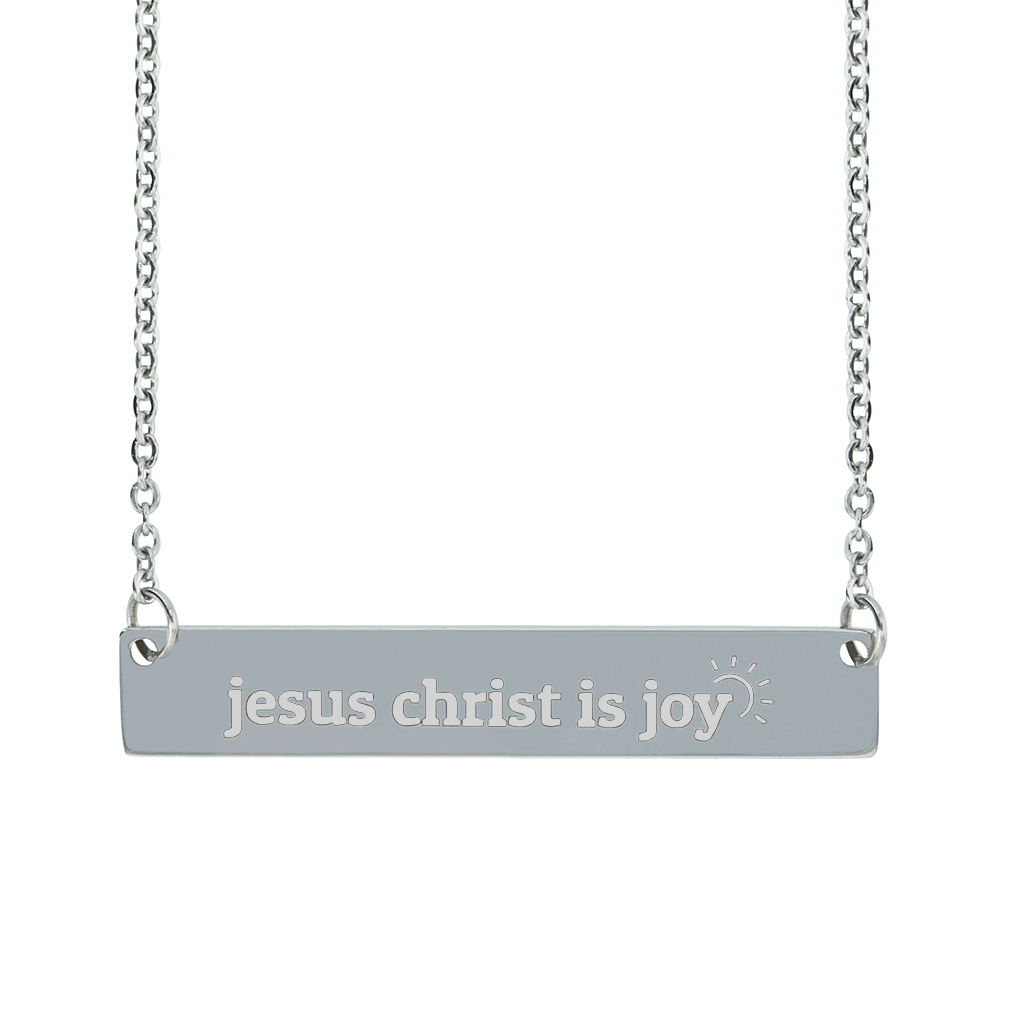 Jesus Christ Is Joy Horizontal Bar Necklace  - LDP-HBN-JCIJ